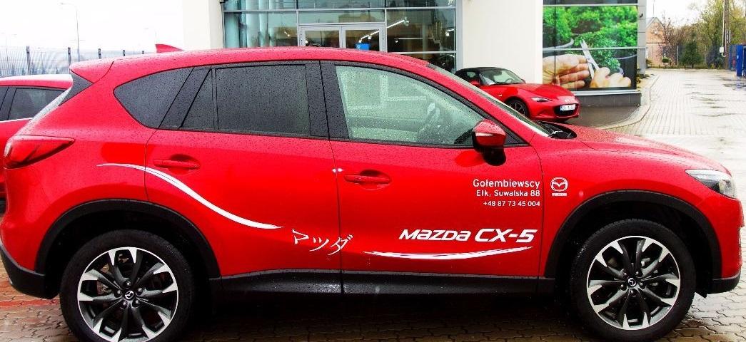 Mazda CX-5 biała skóra - samochody nowe i samochody uzywane w salonie Gołembiewscy.